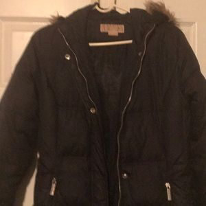Michael Kors hooded coat small/petite